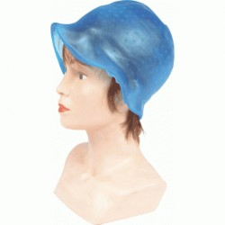 BONNET MECHES SILICONE BLEU