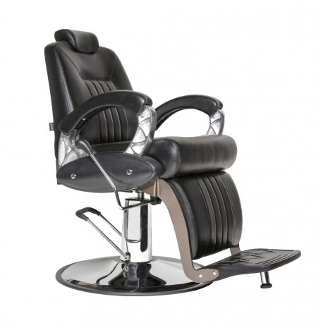 "FAUTEUIL BARBIER ""KINGSTON"" NOIR JACQUES SEBAN"